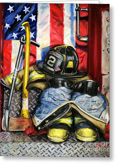 Gear Paintings Greeting Cards - Symbols Of Heroism Greeting Card by Paul Walsh
