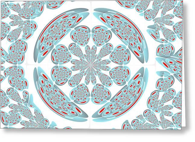 Symmetrical Abstract Greeting Card by Gaspar Avila