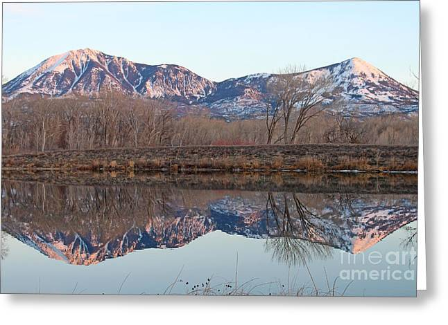 West Fork Greeting Cards - Symmetry At Sunset  Greeting Card by Dale Jackson