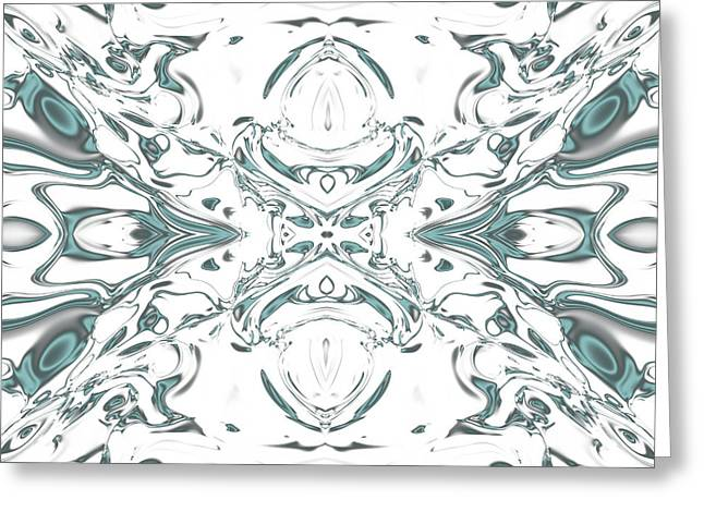 Generative Abstract Greeting Cards - Symmetry is beauty 29 Greeting Card by Danilo JR