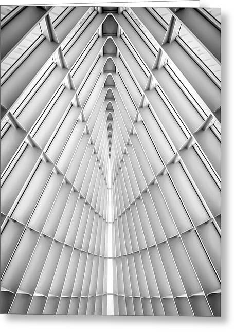 Milwaukee Art Museum Greeting Cards - Symmetry Greeting Card by Scott Norris