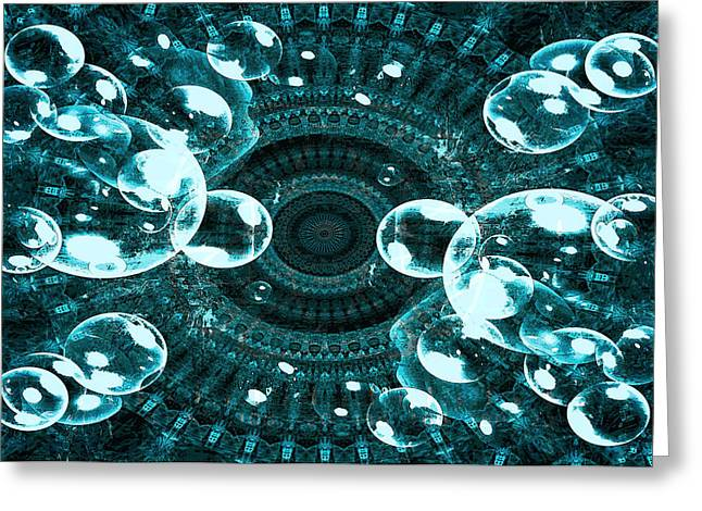 Geometrical Art Greeting Cards - Symphonic Greeting Card by Andrew Hunter