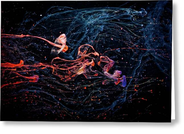 Symphony - Abstract Photography - Paint Pouring Greeting Card by Modern Art Prints