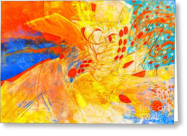 Energize Paintings Greeting Cards - Symphony of Lights Greeting Card by Francine Collier