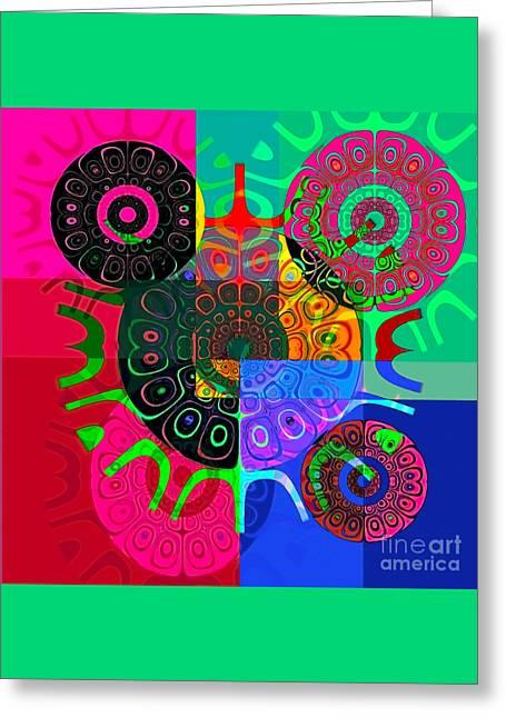 Synced Greeting Card by Raymel Garcia