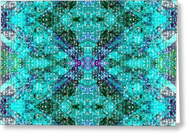 Sacred Tapestries - Textiles Greeting Cards - Synchronicity Greeting Card by Suzi Freeman