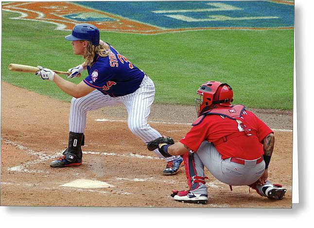 Syndergaard And Molina Greeting Card by Bruce Roker
