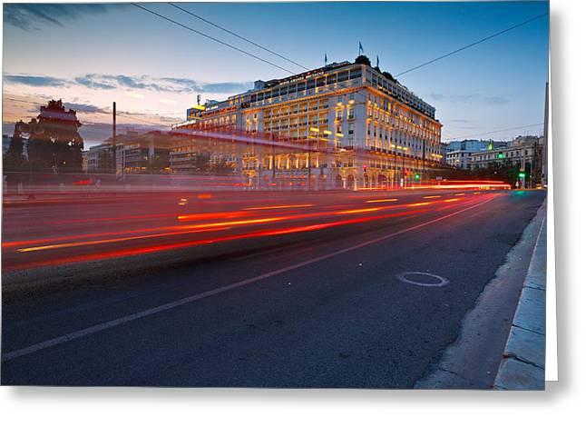 Long Street Greeting Cards - syntagma III Greeting Card by Milan Gonda