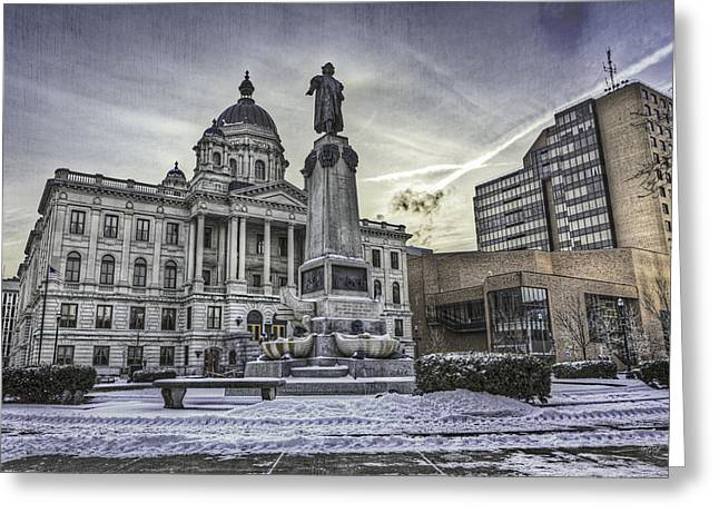 Civic Center Greeting Cards - Syracuse Courthouse Greeting Card by Everet Regal