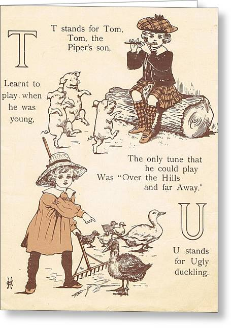 Jack And Jill Greeting Cards - T and U Greeting Card by Reynold Jay