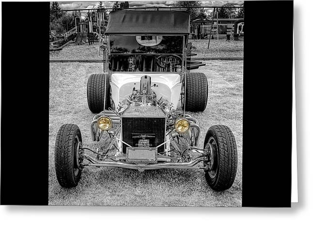Car Hod Greeting Cards - T Bucket Greeting Card by Thom Zehrfeld