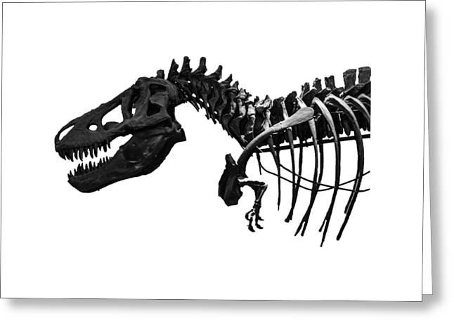 T-rex Greeting Card by Martin Newman