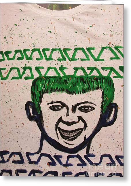 Happy Tapestries - Textiles Greeting Cards - T-Shirt - Sierra Leone Emblem Greeting Card by Mudiama Kammoh