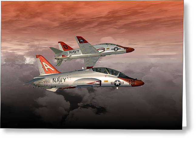 Naval Aviation Greeting Cards - T45 Kiss-Off Greeting Card by Mike Ray