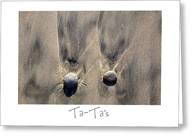 Sand Art Greeting Cards - Ta-Tas Greeting Card by Peter Tellone