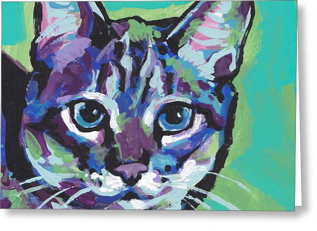 Feline Art Greeting Cards - Tabby Chic Greeting Card by Lea