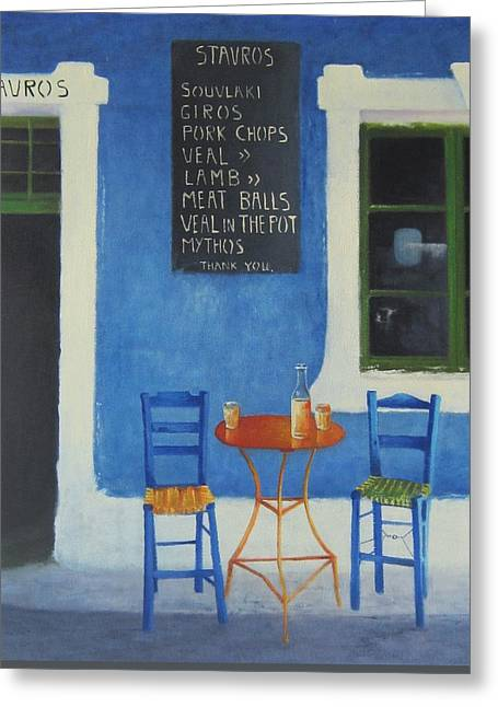 Mealtime Greeting Cards - Table For Two Greeting Card by Joe Gilronan