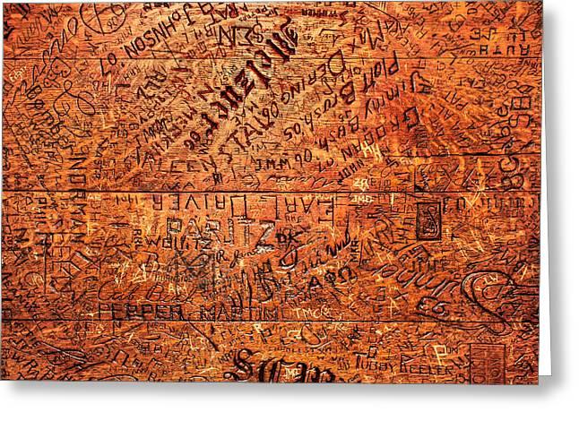 Table Graffiti Greeting Card by Todd Klassy