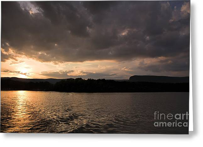 Sunset Posters Greeting Cards - Table Rock Sunset Greeting Card by Robert Loe