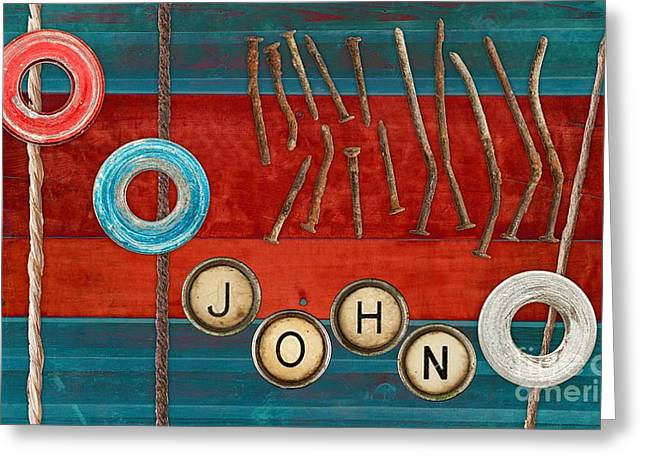 Tablo - 01b - John Greeting Card by Variance Collections