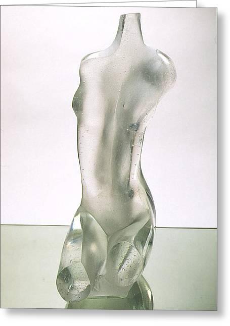 Nude Glass Greeting Cards - Taboo Greeting Card by Zoja Trofimiuk