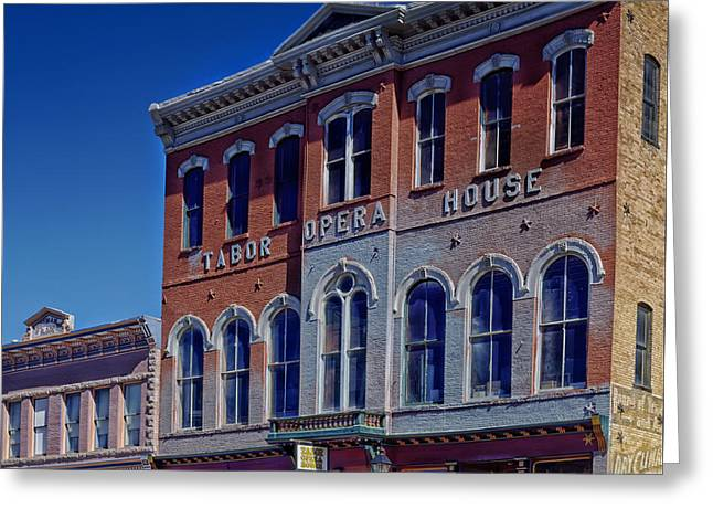 Leadville Greeting Cards - Tabor Opera House - Leadville Colorado Greeting Card by Mountain Dreams