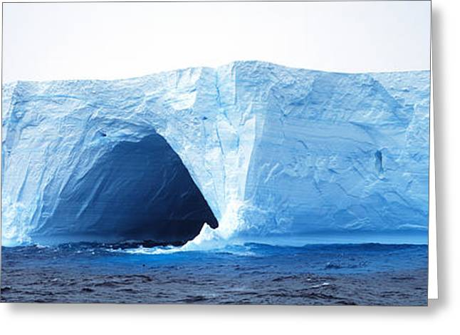 Wintry Photographs Greeting Cards - Tabular Iceberg Antarctica Greeting Card by Panoramic Images