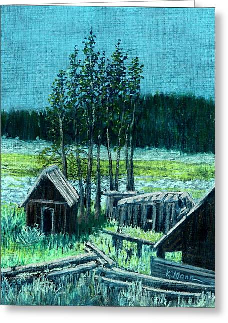 Shack Pastels Greeting Cards - Tac House, Basque Camp Greeting Card by Kenneth Mann