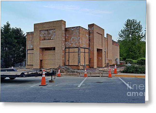 Taco Bell In Aspen Hill During Renovation Greeting Card by Ben Schumin