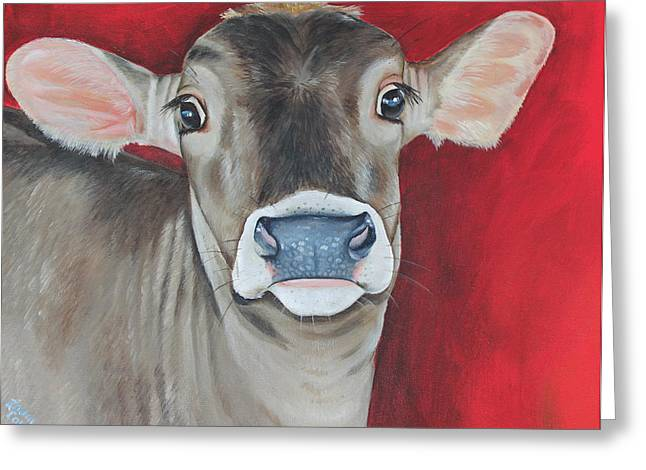 Swiss Paintings Greeting Cards - Taffy Greeting Card by Laura Carey