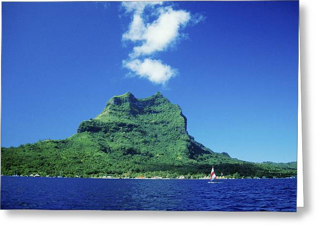 Mountainside Art Greeting Cards - Tahiti, Bora Bora Greeting Card by Peter Stone - Printscapes