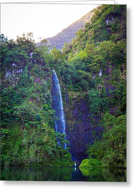 Matty Greeting Cards - Tahitian Paradise Greeting Card by Matty  Schweitzer
