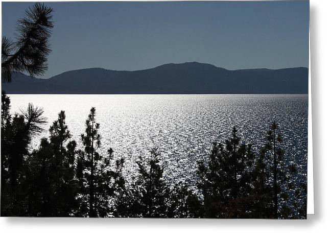 Recently Sold -  - Pond In Park Greeting Cards - Tahoe Glow Greeting Card by Lydia Warner Miller