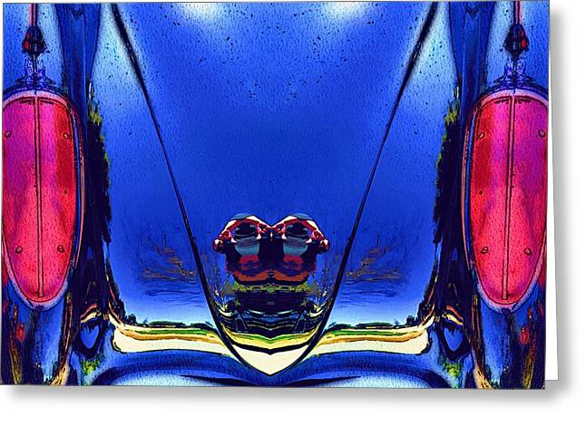 Tail Light Reflections On Venus Greeting Card by Alec Drake