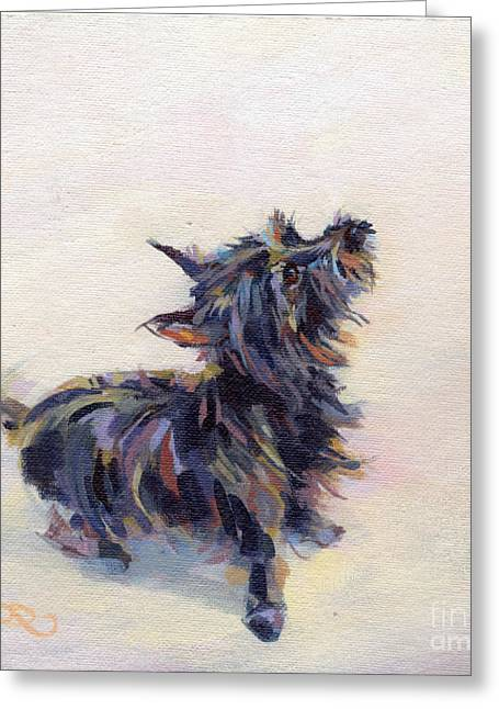 Cairns Greeting Cards - Tail Wagging Fury Greeting Card by Kimberly Santini