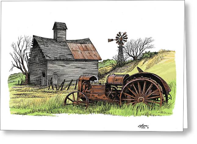 Tailend Of Hard Tmes Greeting Card by Dave Olson