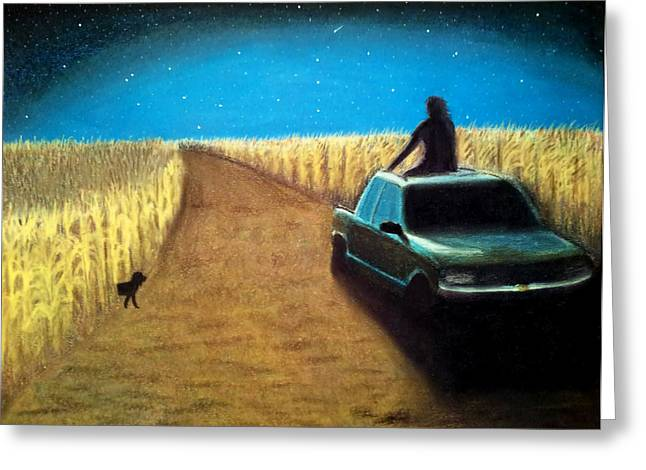 Cornfield Pastels Greeting Cards - Tailgate Blues Greeting Card by Ashley Huisman