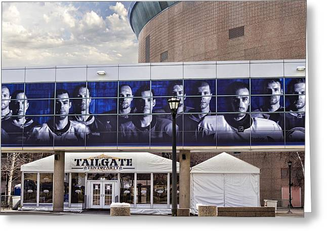 Mural Photographs Greeting Cards - Tailgate Greeting Card by Peter Chilelli