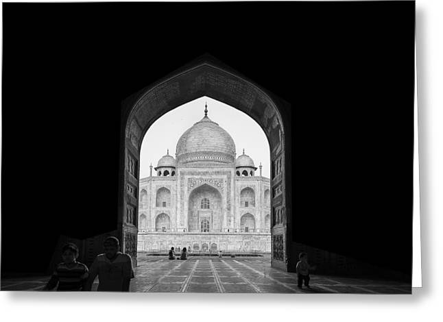 Taj Mahal Greeting Card by Basem Al-qasim