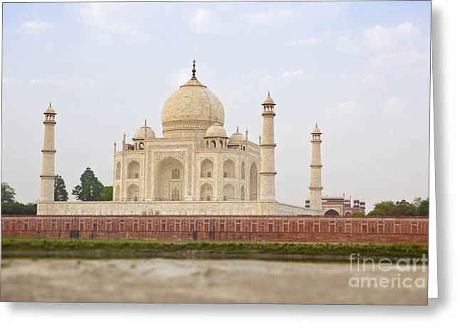 Place Of Burial Greeting Cards - Taj Mahal Exterior Greeting Card by Bryan Mullennix
