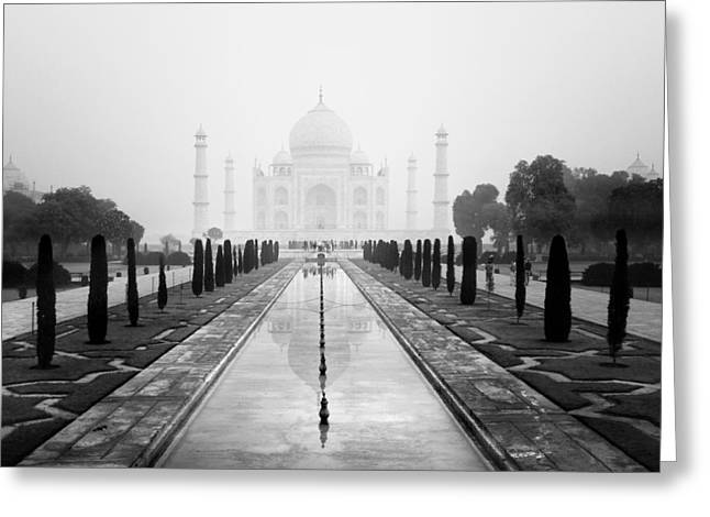 Religious Greeting Cards - Taj Mahal III Greeting Card by Nina Papiorek