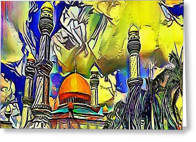 Taj Mahal India  - My Www Vikinek-art.com Greeting Card by Viktor Lebeda
