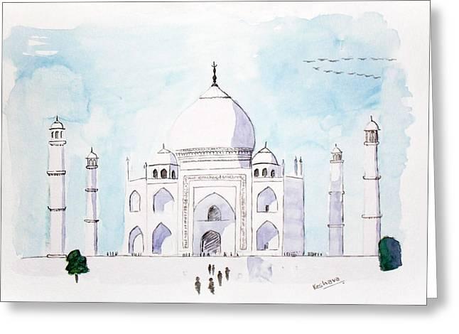 Keshava Greeting Cards - Taj mahal Greeting Card by Keshava Shukla