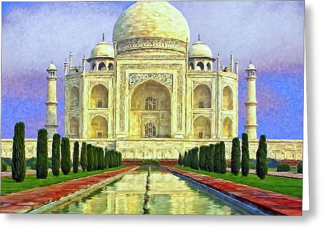 Taj Mahal Morning Greeting Card by Dominic Piperata