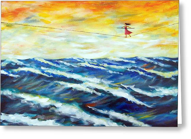 Kirk Paintings Greeting Cards - Take a Chance Greeting Card by Ira Mitchell-Kirk