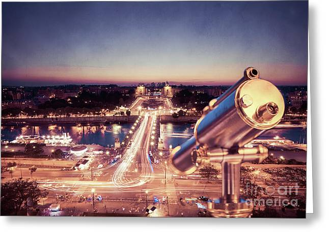 Take A Look At Paris Greeting Card by Hannes Cmarits