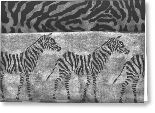 Prints Of Zebras Greeting Cards - Take a Walk on the Wild Side Greeting Card by Anne-Elizabeth Whiteway