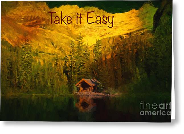 Randy Greeting Cards - Take it Easy Greeting Card by Jim  Hatch