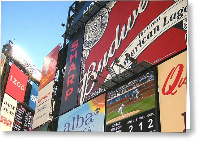 Citifield Greeting Cards - Take Me Out To the Ballgame Greeting Card by Bernadette Claffey