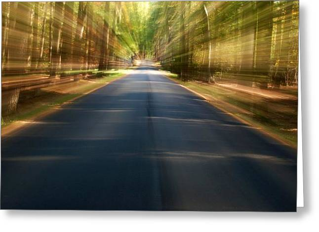 Roadway Greeting Cards - Take Me There - Ocean County Park Greeting Card by Angie Tirado